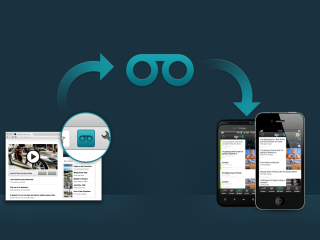 Spool saves media and makes it available for later on your iPhone, Android, iPad, and computer.